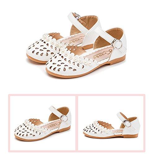Sandale Bebe Fille Enfant Femme Plates Perle Princesse Chaussures Closed Toe Princess Flat Sandale Summer Blanc