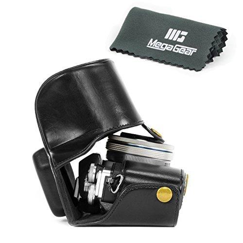 megagear-leder-kameratasche-fur-olympus-om-d-e-m10-mark-ii-mit-14-42mm-kompakte-systemkamera-schwarz