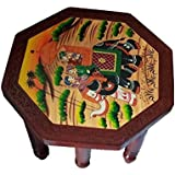 Royals Wooden Bajot Table Footstool spritiual daily use For Pooja Gift 18 Inches