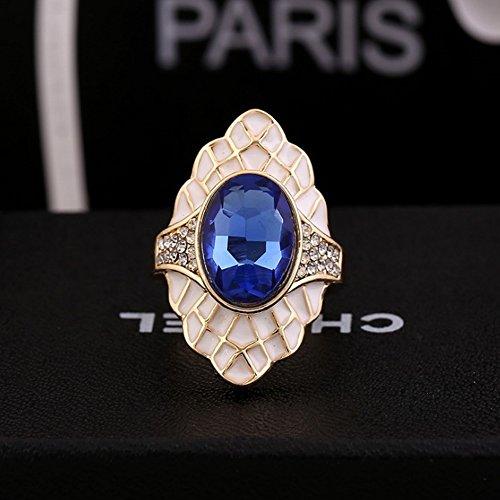 Klwkya cristallo anello anello moda uomini e donne lega accessori ornamenti per le mani,blue,19