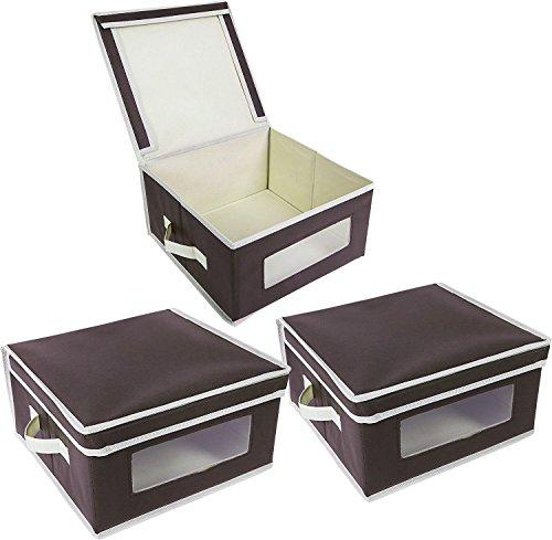 Juvale Faltbare Stoff Aufbewahrung Behälter/Mülleimer–Organisation Cube Boxen 3Pack–31,8x 31,1x 17,1cm