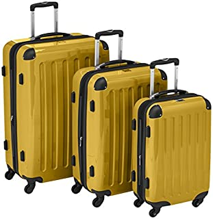 HAUPTSTADTKOFFER - Alex - Set of 3 Hard-side Luggages Trolley Suitces Expandable, (S, M & L), yellow (B007AJKGYO) | Amazon price tracker / tracking, Amazon price history charts, Amazon price watches, Amazon price drop alerts