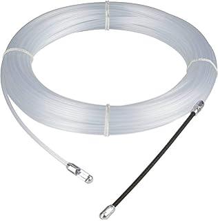 30m Einziehband mit Suchfeder Wei/ß Plastikfiziert Flexibel Elektrik Draht Kabel Anzieher 1.330 M-L 1572