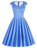 1950er retro vintage partykleider casual kleid geburtstag kleid elegant damenkleider Größe L CL007600-11