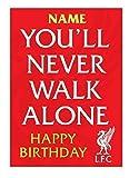 personalisiert Liverpool Fußballmannschaft Geburtstagskarte - hinzufügen Name