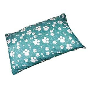 Linens Limited Paws Flat Dog Pet Bed, Teal, Extra Large