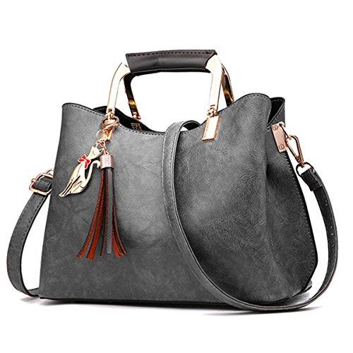 Handtaschen Damen, JOSEKO Damen Weiche PU Leder Damen Klassische Umhängetaschen Lederhandtasche...