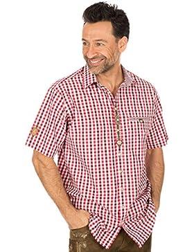 orbis Textil Trachtenhalbarmhemd Rot