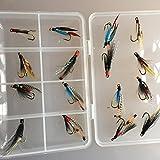 Doppelt Wet Fliegen für auf Meerforelle und kleine lachs Box Set von sechzehn Größe 8Trout Fly Angeln Pack # 327