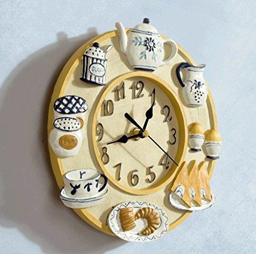 Bonne action Horloge murale Horloge Mode Creative Moderne Minimaliste Salon Art Horloge Européenne Horloge Murale Personnalité Mute Restaurant Horloge Murale Décorative