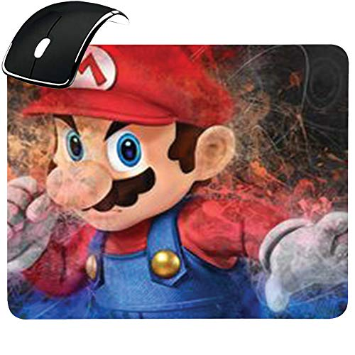Tappeto Mouse Tappetino Personalizzato con Immagine Esempio Super Mario Cappello Rosso Videogiochi (Mario)