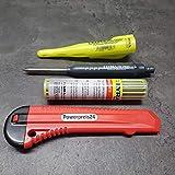 Lyra Dry Automatic Pen Tieflochmarker Baumarker mit 12 Ersatzminen 2HB und Kartonmesser 18mm