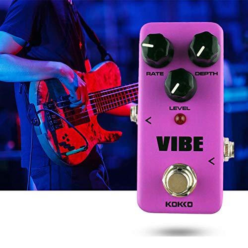 Surenhap Gitarren Effekt, FUV2 Mini Elektrische Gitarre Effektpedal Vibe Analog Rotary Gitarre Lautsprecher Effekte Guitarra Pedal Teile Zubehör (Lila)