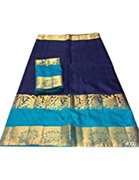 Nirja Creation Multi Color Fancy Party Wear Cotton Silk Saree (6 Color)