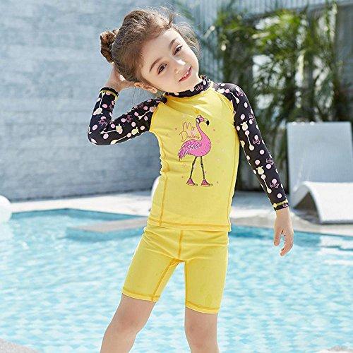 Axiba Kinder Badeanzug Mädchen Kind Sonnenschutz Badeanzug Badeanzug (Waten Korb)
