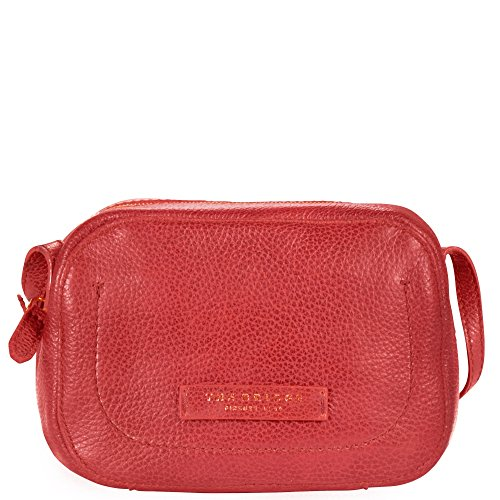 The Bridge Plume Soft Donna Sac bandouliére I cuir 22 cm rosso ribes