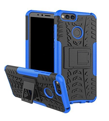 Huawei Honor 7x Schutzhülle, Honor 7x Fall, Moment dextrad [mit integriertem Ständer] [Rutschfeste Design] Dual Layer Hybrid Ganzkörper-Rugged [stoßfest] Schutz Cover + Stylus, blau Pink Unlocked Cell Phones