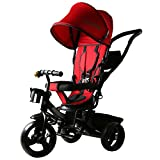 #7: Baybee Elantra 4 in 1 Trolly Cycle - Tricycle with Canopy and Parent Control (R)