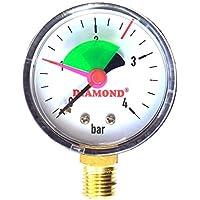 Industrial 50 mm 4 bares de presión hidráulica manómetro 0,64 cm