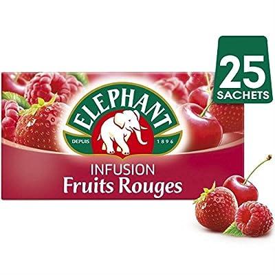 Eléphant infusion fruits rouge 3x45g - Prix Unitaire - Livraison Gratuit En France métropolitaine sous 3 Jours Ouverts