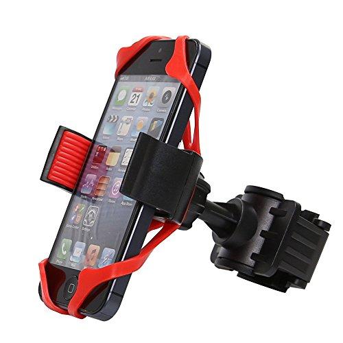 ZEELIY Handyhalterung Fahrrad Abnehmbare Handyhalter Fahrrad Handyhalterung Motorrad Universal 360° Drehbare Smartphone Halterung Fahrrad für Huawei, Samsung, iPhone Smartphone und GPS