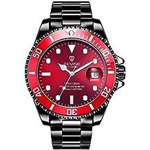 c3debe725f95 WOSOSYEYO Reloj TEVISE T801 de los Hombres mecánicos automáticos de Moda  Reloj de Pulsera Luminosa 30M