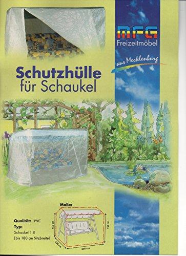 Deluxe PVC Schutzhülle mit Reißverschluß für eine Gartenschaukel von MFG, 150x135x205 cm, in praktischer Tragetasche