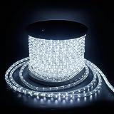 LED Lichterschlauch Lichtschlauch Lichterkette Licht Leiste 36LEDs/M Schlauch für Innen und Außen IP44 50M Kaltweiß