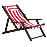 HUIFANG Strandkorb Massivholz Liege Falten Leinwand Stuhl Mittagspause Stuhl Stuhl Im Freien Tragbaren Stuhl Begleitet Holzstuhl Faul Stuhl A (Farbe : A3)