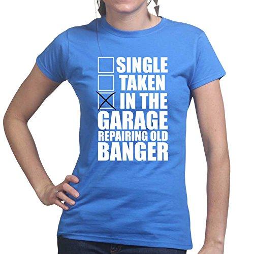 Single Taken In Garage Repairing Old Banger Classic Car Ladies T shirt Königsblau
