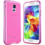 Samsung Galaxy S5 Hülle in Pink - Silikonhülle Case Schutzhülle Tasche für Galaxy S5