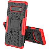 TenYll case For Samsung S10 Plus, Shockproof Tough Heavy Duty Armour Back Case Cover Pouch With Stand Double Protective Cover