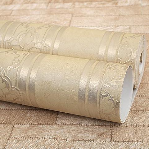 XIAGAOYUANYUAN Lujoso y elegante en Europa retro barras de color cobre 48303 Papel tapiz