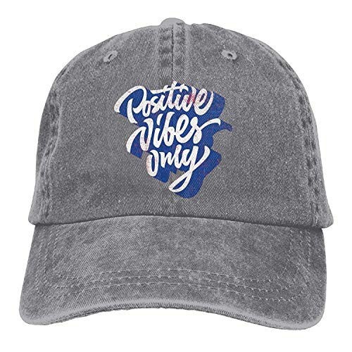 Positive Vibes Only Casual Denim Hat Trucker Hat Ash