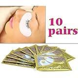 SODIAL (R) 20 Anti-Falten-Wimper-Verlaengerungs-Augenlider-Gel-Pads