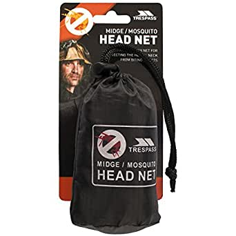 Trespass Midge Head Net, Black, ONE SIZE, Ultra Fine