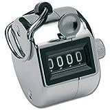LUPO® 4 Stellige Golf Anzahl Handzähler Kostenzähler Clicker Torjäger Schlagzähler (Silber)
