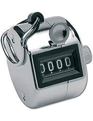 LUPO® 4 dígitos de mano Número Golf Tally Manual Contador Clicker Goleador (Plata)