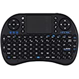 ESYNIC Mini Wireless Keyboard 2.4G XBMC Keyboard Touchpad Mouse Combo- Multi-media Portable Handheld Android Keyboard- for Google Android Smart TV Box Media Mini TV PC Stick HTPC IPTV Raspberry PI 3 PS3- British Layout-Black