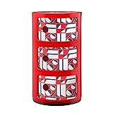Kartell Componibili conteneur 3 tiroirs avec décor La Double J rouge géométrique