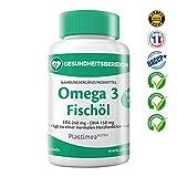 Omega 3 Premium Fischöl - 90 Kapseln - Trägt zu einer guten Funktion der Herz-, Kreislauf, Hirn-, Hormon- Systeme bei