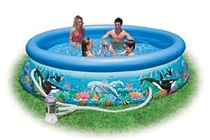 INTEX 54902 EASY-SET Oceanreef Pool mit Filterpumpe 3.05m x 76cm