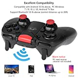 allcaca Bluetooth Game Controller Wireless Gamepad Rechargeable Phone Controller with Vibrating Function, Compatible with Android, Tablet, TV, TV Box, VR(Not for ios devices)