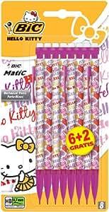 Bic Matic Porte-Mine jetable Hello Kitty 0,7 mm Blister de 6+2