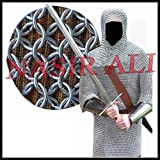 Nasir Ali & CO Camisa de COTA de Malla remachada Redonda de Aluminio de 9 mm 16G Recreación de Ropa Medieval