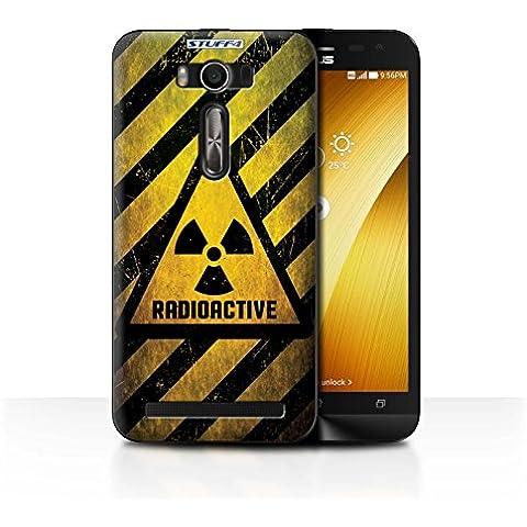 Custodia/Cover/Caso/Cassa Rigide/Prottetiva STUFF4 stampata con il disegno Segnali di avvertimento di pericolo per Asus Zenfone 2 Laser ZE500KL - Radiazione