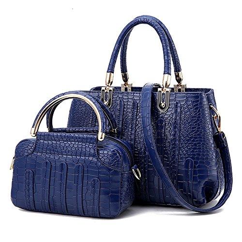 LiZhen il nuovo pacchetto, killer coccodrillo pacchetto Ladies borse tatuaggio selvaggio minimalista borsa a tracolla messenger bag, rosa Blu scuro
