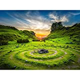 Fairy Glen Sunset Skye Scotland Unframed Wall Art Print