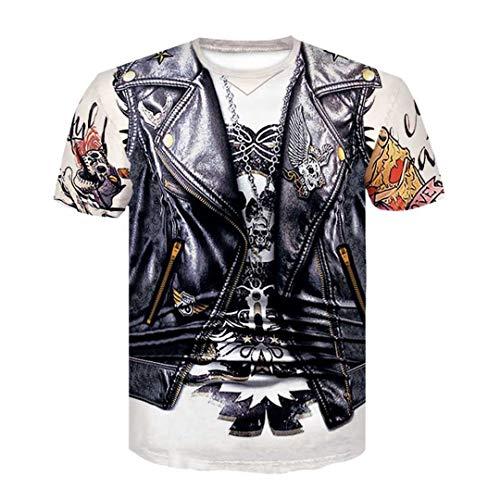 T-Shirt für Jungen- / Mädchen-grafisches T-Shirt 3D Männer/Frauen-lustiges Druck-T-Shirt D-526 M ()