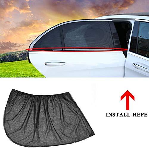 8Eninine 1 Paar Auto Sonnenschutz Windschutzscheibe Visier Abdeckung Vorhang Abdeckung Sun Blocking Schwarz